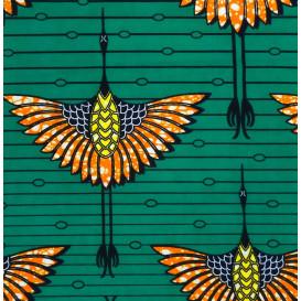 coupon 0,16mx1,06m de tissu africain wax oiseaux