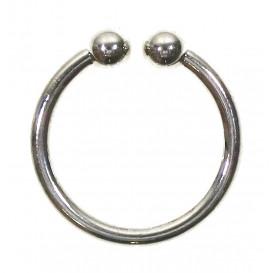 anneau maillot de bain argent 24mm