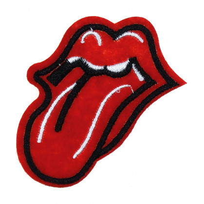 écusson langue rolling stones thermocollant