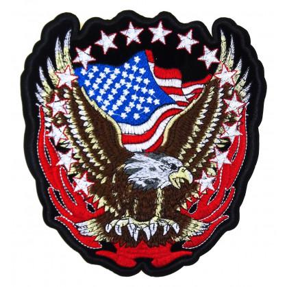 écusson biker aigle drapeau americain thermocollant