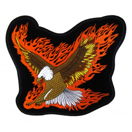 écusson biker aigle flamme thermocollant n°2