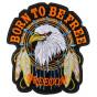 écusson biker aigle freedom attrape rêves thermocollant