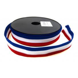 ruban maille tricolore 20mm x 50cm