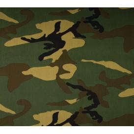 Coupon 0,12mx1,45m tissu jersey camouflage vert
