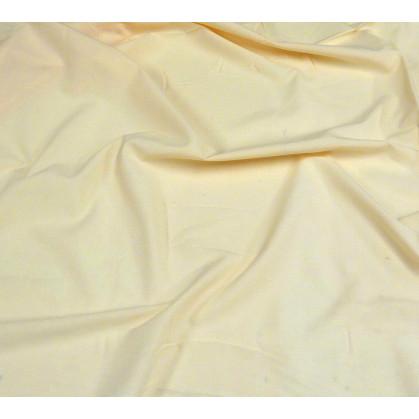 tissu coton blanc fleurs marron largeur 150cm x 50cm