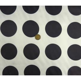 coupon 0,41mx1,20m tissu satin carnaval pois noir