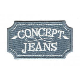 écusson concept jeans clair thermocollant