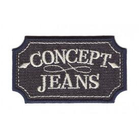 écusson concept jeans foncé thermocollant