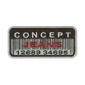 écusson concept jeans code barre thermocollant