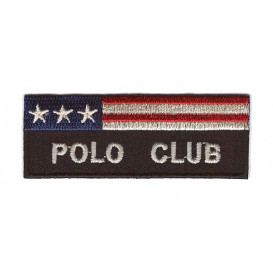 écusson polo club rectangle thermocollant