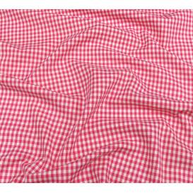 tissu vichy 4mm fuchsia largeur 140cm x 50cm
