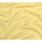 tissu vichy 4mm jaune largeur 140cm x 50cm