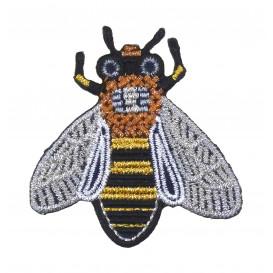 écusson abeille lurex thermocollant