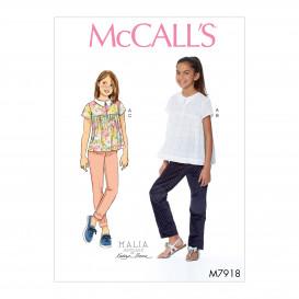 patron enfant haut et pantalon McCall's M7918