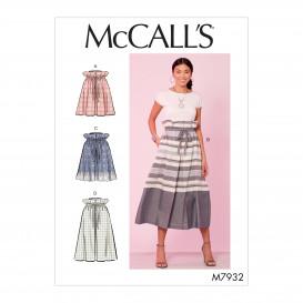patron jupes amples à cordon McCall's M7932