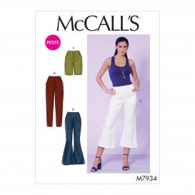 patron short et pantalon McCall's M7934