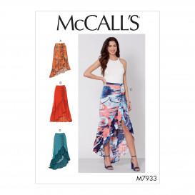 patron jupes asymétriques McCall's M7933