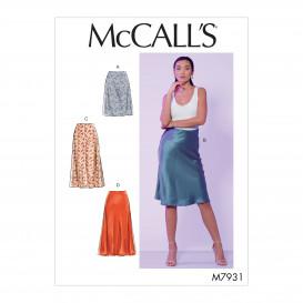patron jupes ajustées aux hanches McCall's M7931