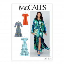 patron robes boutonnées devant McCall's M7925