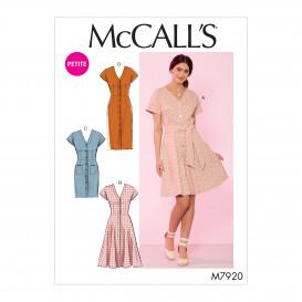 patron robes et ceinture McCall's M7920