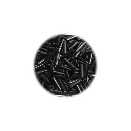 perles de verre batonnet noir 15 gr
