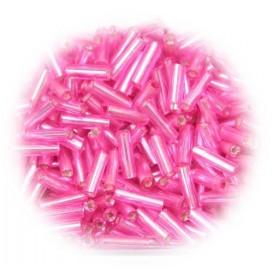 perles de verre batonnet rose 15 gr