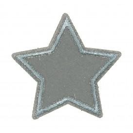 écusson étoile grise 3,8cm thermocollant