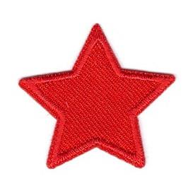 écusson étoile rouge 3,8cm thermocollant
