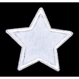 écusson étoile blanche 3,8cm thermocollant
