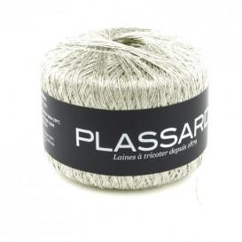 pelote de laine plassard fil sideral argent pailleté