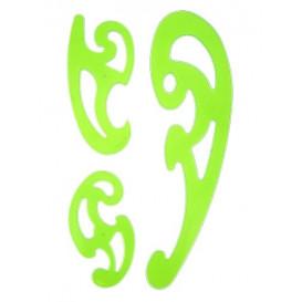 3 pistolets de couture perroquets vert