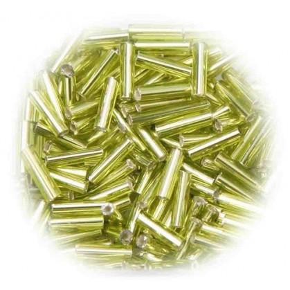 perles de verre batonnet olive 15 gr