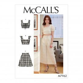 patron hauts, short, pantalon McCall's M7962
