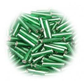 perle de verre longue tige vert 15 gr