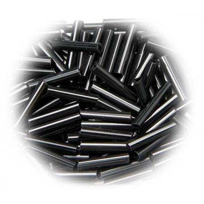 perle de verre longue tige noir 15 gr