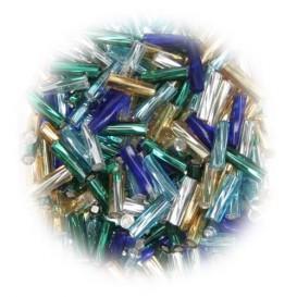 perles de verre virage batonnet assortis 15 gr