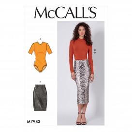 patron hauts et jupes McCall's M7983