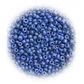 perles de verre ronde bleu royal 15 gr