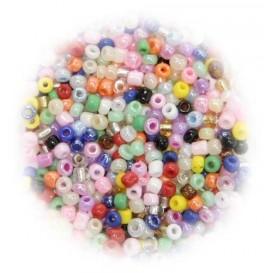 perles de verre ronde assortis 15 gr