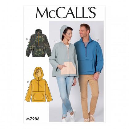 patron vestes amples McCall's M7986