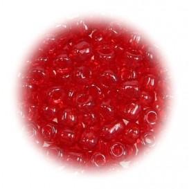 grosse perles de verre ronde rouge 7 gr