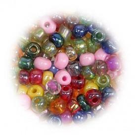 grosse perles de verre ronde assortis 7 gr