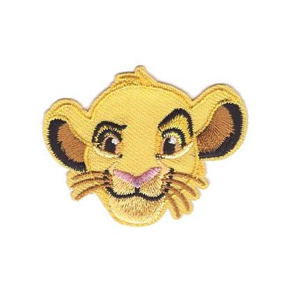 écusson disney le roi lion tête de simba thermocollant