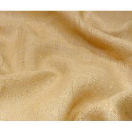 coupon 0,40x0,66m tissu toile de jute naturel