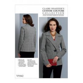 patron veste découpe princesse Vogue V9342
