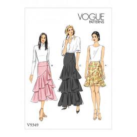 patron jupe portefeuille ajustée Vogue V9349