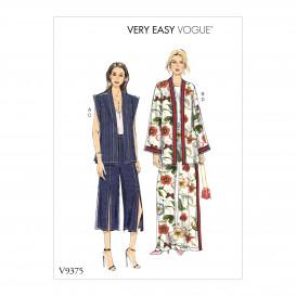patron gilet, veste, pantalon Vogue V9375