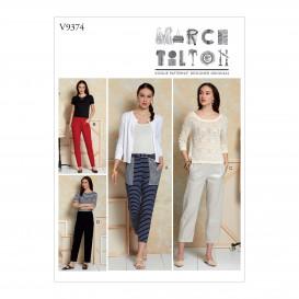 patron pantalon ample Vogue V9374