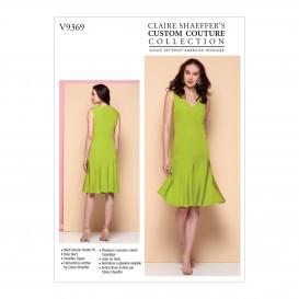patron robe ajustée Vogue V9369