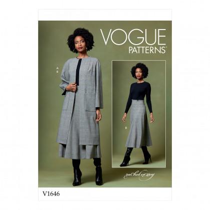 patron manteau et jupe Vogue V1646